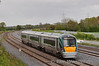 22047 is pictured on the Up Slow line with the 1808 Newbridge - Heuston. Stacumny Bridge. Tues 15.05.12