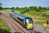 22037 comes off the Athlone Branch at Portarlington with the 0715 Westport - Heuston. Fri 25.05.12