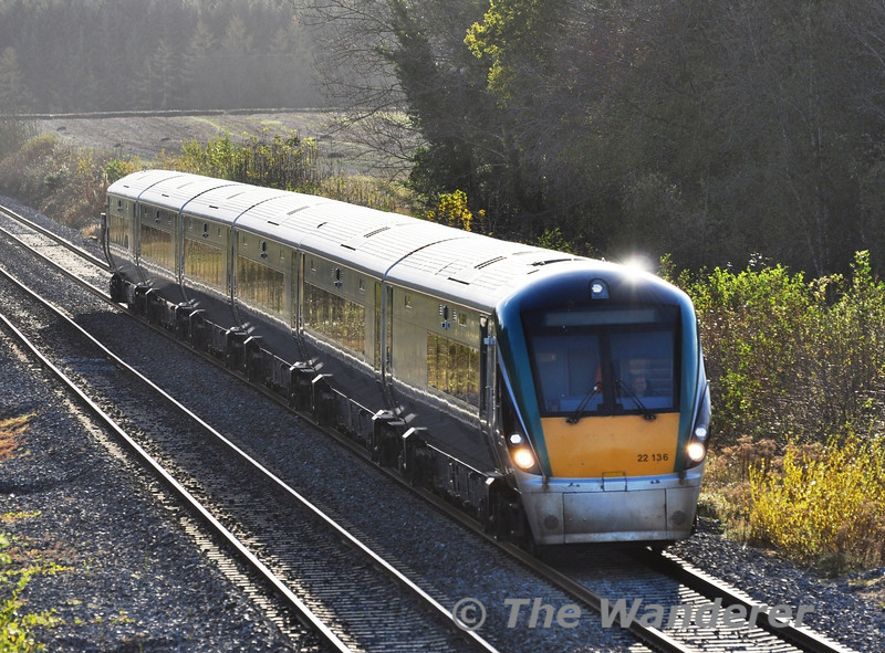 22036 with the early running 1530 Laois Depot - Heuston Transfer. It would later form the 1725 to Limerick. Sat 03.11.12
