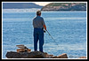 Fisherman on the Kennebec River