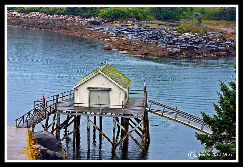 Boat House at Colonial Pemaquid State Historic Site