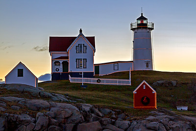 Nubble Lighthouse sunrise at York Maine