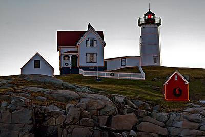 Nubble Lighthouse sunrise at York Maine