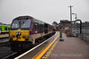209 at the rear of the 0650 Belfast Central - Dublin Connolly Enterprise at Drogheda. 209 itself has been a rare loco to work Enterprise trains over the last couple of years but was the preferred choice for the Enterprise MKIII Van Trials. Mon 10.09.12