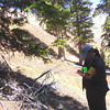 Handcart Gulch, CO (late May). Yanet taking notes in her field notebook.