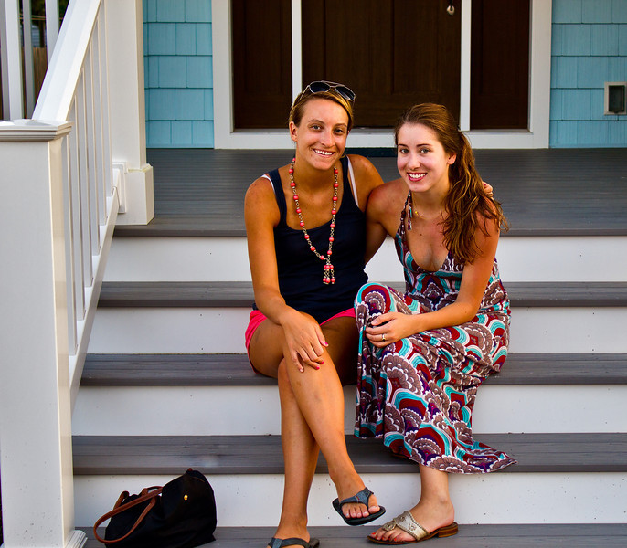 Julia and friend Courtney subjected to the porch picture imperative.