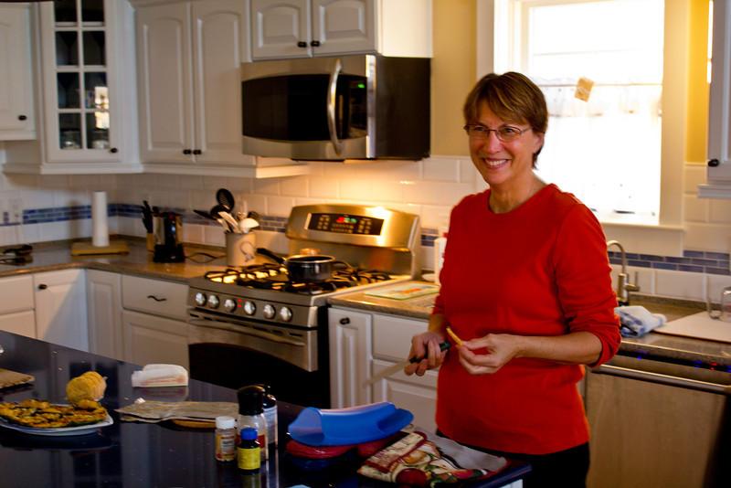 Celeste works on the repast