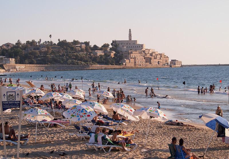 Tel Aviv beach overlooking Jaffa