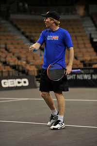 is seen on court participating in the Powershares Series Cancer Treatment Centers of America Tennis Championships presented by 8 News Now at the Mandalay Bay Events Center on Saturday, Nov. 17, 2012 in Las Vegas. (Photo by Jeff Bottari/Powershares)