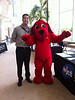 WJCT Board member Tom Anderson, with Clifford at CSX Community Day.