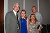 WJCT President & CEO Michael Boylan, Scholarship Recipient Kelly Milliron and parents.