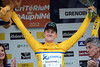 Luke Durbridge cannot hide a content smile as race-leader of the 2012 Dauphiné-Libéré...