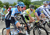 Daniel Martin and Simon Gerrans have plenty of time to chat about the weather - or the Tour de France...