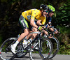 Durbridge looks determined in his yellow jersey, but there are a few hills likely to make it hard for the young Australian...