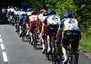 Dan Martin is suffering like a dog at the back of the strung-out peloton - luckily, the Sky-led escape relents...