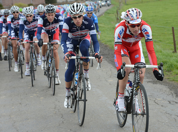 The teams of Katusha and Lotto seem more purposeful in the pursuit - and the gap is coming down...