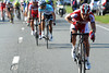 Luca Paolini accelerates at the front of the race - he's hoping Oscar Freire will win..!