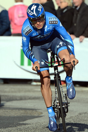 Manuele Boaro was the bigegst surprise of the day - the Italian took 4th place, just 15-seconds off the pace...
