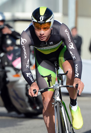 Brett Lancaster was Green Edge's best rider in 7th place, 23-seconds off the pace...