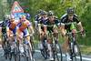 Thomas Vaitkus now pilots the Green Edge team to the front, parallel to Rabobank, Sky, and FDJ...