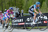 Hesjedal is starting to stretch his legs ahead of his rivals on the Passo Giau - can the Canadian win this Giro..?