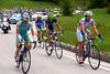 The escape is climbing the Passo Duran with just a few minutes in hand - so Seeldrayers decides to attack...