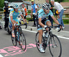 Cataldo seems to be happily pacing Kreuziger as the final climb to Pampeago begins...