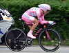 """Man in Pink, Joachim Rodriguez, finished in 26th place, 1' 26"""" down - and lost his race-lead..!"""