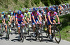 The Lampre-led peloton has yet to stir itself in pursuit...