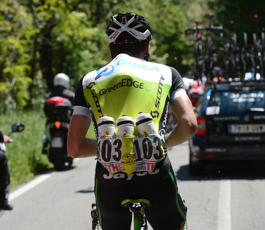 Daryl Impey is Green Edge's water carrier today...