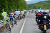 The peloton shows its traditional contempt for an escape by stopping for a call of nature...