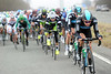 Alex Dowsett chases for Team Sky as the gap grows to over five minutes at the halfway mark...