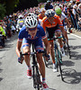 Tejay Van Garderen leads another counter-attack up Box Hill - he has Langeveld, Rui Costa, Gesink and Grivko with him...