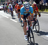 Jurgen Roelandts leads an escape that went away after about 25-kilometres and has gained four precious minutes...