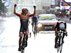 Marianne Vos wins the Womens Olympic Road Race ahead of Lizzie Armitstead...