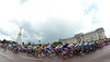 The womens road race leaves the start at Buckingham Palace under darkening skies...