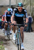 Juan Antonio Flecha chases Boonen on the Taaienberg - the winning move is about to form...