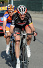 Jens Voigt has attacked on the outskirts of Sisteron, but he has Luis Leon Sanchez with him...