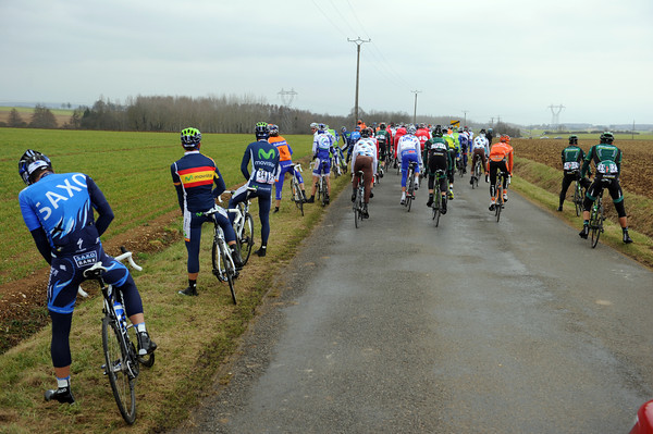 Unlike yesterday, the peloton is less than interested in today's escape...
