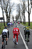 After a small hill, the peloton gets hit from the side by some mighty strong winds - Andy Schleck is one of the first to succumb...