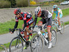 George Hincapie and Greg Rast face an impossible chase after the crash...