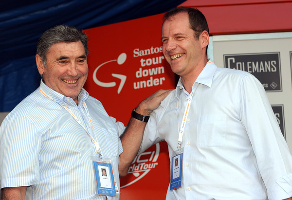 Eddy Merckx and Christian Prudhomme are the Tour Down Under's special guests for stage two...