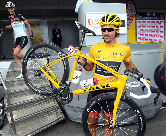 Fabian Cancellara has a new Trek bike to match his new colour scheme...