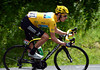 Bradley Wiggins looks more than regal as he descends the Madeleine...