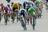 Matthew Goss sprints against Peter Sagan many minutes later - but the Australian has switched and will lose a lot of points for doing so..!