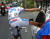 Is he cheating..? Anthony Roux is actually getting his cleats adjusted by the FDJ mechanic...