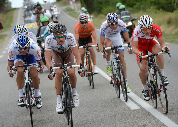 Bouet, Engoulvent and Dumoulin have now put their heads down to make sure this Bastille Day escape succeeds..
