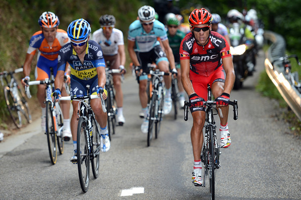Philippe Gilbert is in this move too - maybe he can win a first stage for BMC today..?