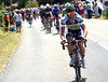 Michele Albasini tries an attack on the first climb of the day...