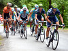 Alejandro Valverde is chasing hard and closes the gap as the steepest climbing begins...